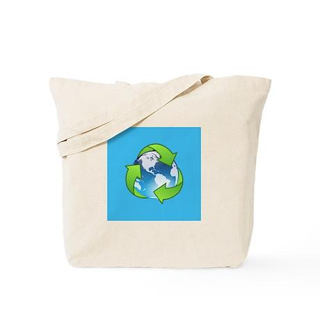 Recycle Logo Earth Day Globe Tote Bag