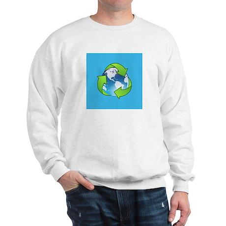 Recycle Logo Earth Day Globe Sweatshirt