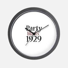 Party 1929 (Recession) Wall Clock