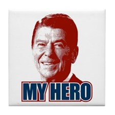 My Hero Reagan Tile Coaster