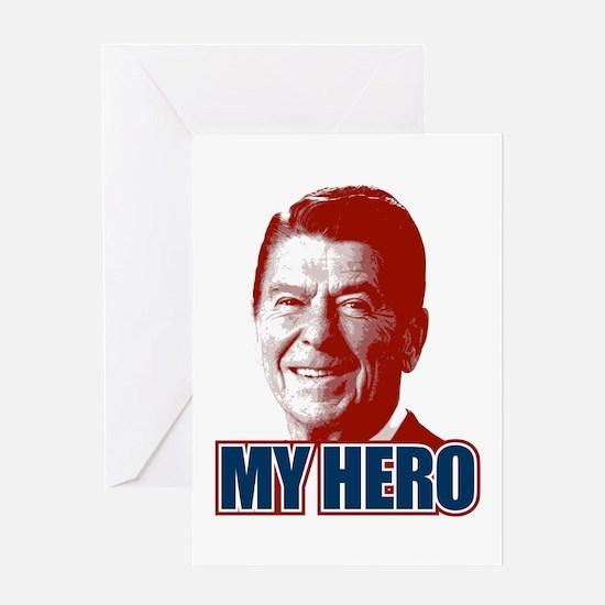 My Hero Reagan Greeting Card
