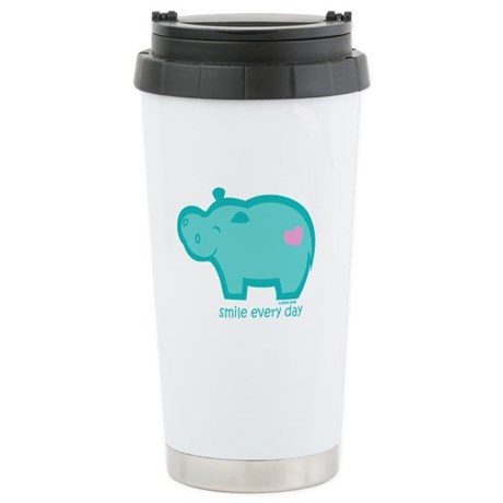 Smile Hippo Stainless Steel Travel Mug