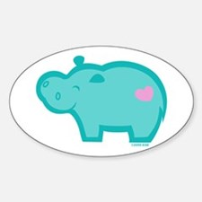 Hippo Oval Decal