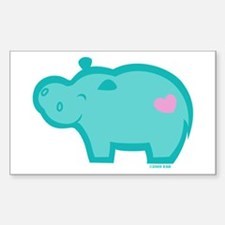 Hippo Rectangle Decal