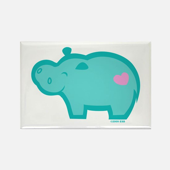 Hippo Rectangle Magnet