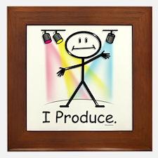 Theater Play Producer Framed Tile