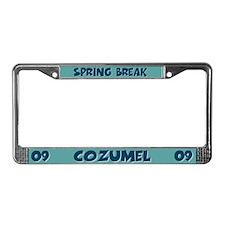 Spring Break Cozumel License Plate Frame
