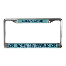 Spring Break Dominican RepublicLicense Plate Frame