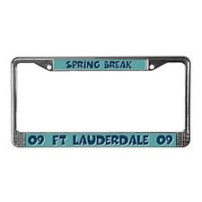 Spring Break Fort Lauderdale License Plate Frame