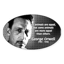 Animal Farm: George Orwell Oval Decal