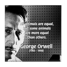 Animal Farm: George Orwell Tile Coaster