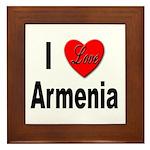 I Love Armenia Framed Tile