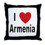 I Love Armenia Throw Pillow
