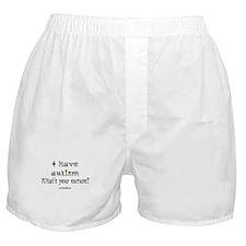 AUTISM EXCUSE Boxer Shorts