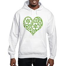 Green Heart Recycle Hoodie