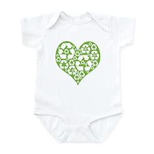 Green Heart Recycle Onesie