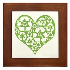 Green Heart Recycle Framed Tile