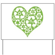 Green Heart Recycle Yard Sign