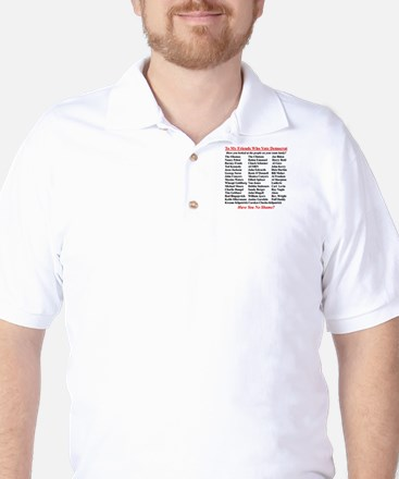 """Dems Hall of Shame"" Golf Shirt"