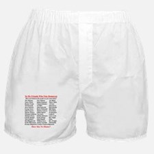 """Dems Hall of Shame"" Boxer Shorts"