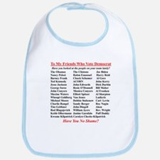 """Dems Hall of Shame"" Bib"