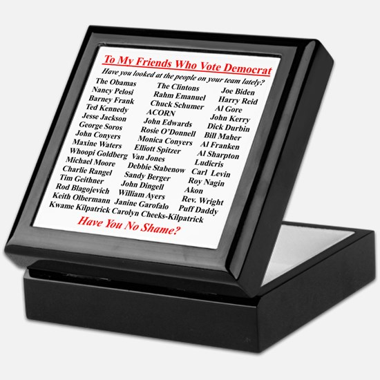 """Dems Hall of Shame"" Keepsake Box"