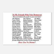 """""""Dems Hall of Shame"""" Postcards (Package of 8)"""