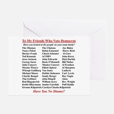 """Dems Hall of Shame"" Greeting Card"