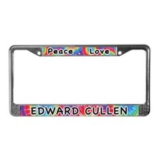Peace Love Edward Cullen License Plate Frame