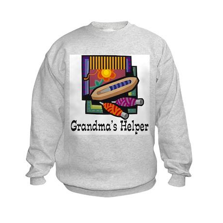 Grandma's Helper Weaving Kids Sweatshirt