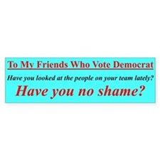 """Dems Hall of Shame"" Bumper Bumper Sticker"