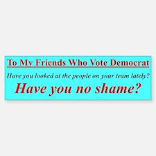 """Dems Hall of Shame"" Bumper Car Car Sticker"