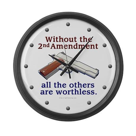 2nd Amendment Large Wall Clock