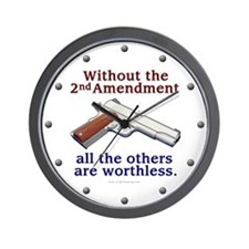 2nd Amendment Wall Clock