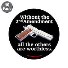 """2nd Amendment 3.5"""" Button (10 pack)"""