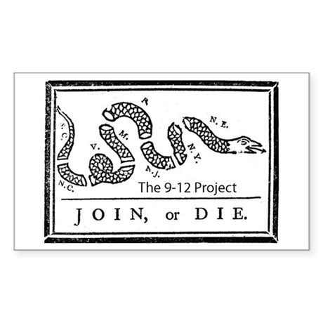 Join or die! The 912 project Rectangle Sticker