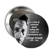 Novelist George Orwell Button