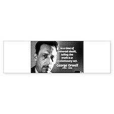 Novelist George Orwell Bumper Bumper Sticker
