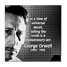 Novelist George Orwell Tile Coaster