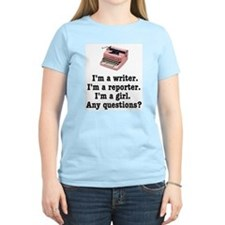 Pink Typewriter T-Shirt