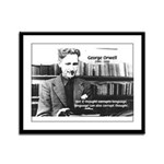 George Orwell: Language Thought Framed Panel Print