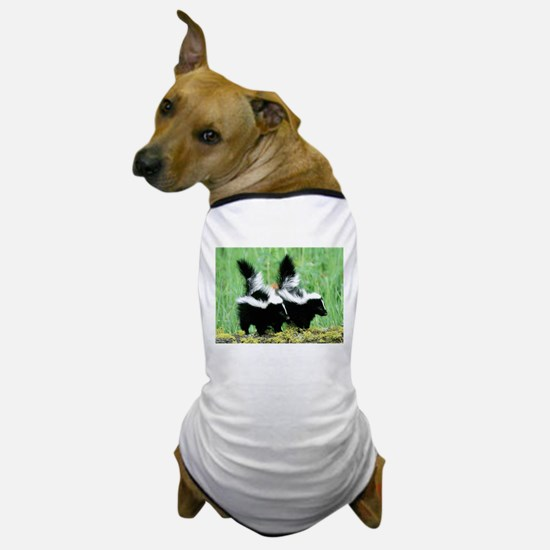 Two Skunks Dog T-Shirt