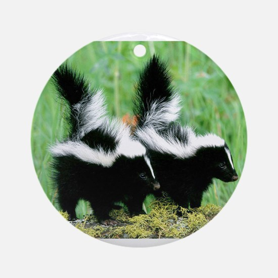 Two Skunks Ornament (Round)