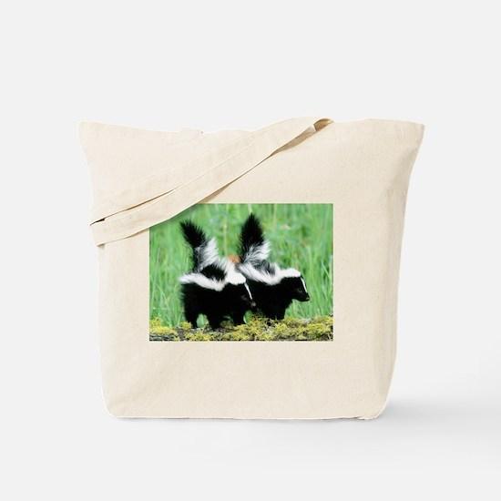 Two Skunks Tote Bag
