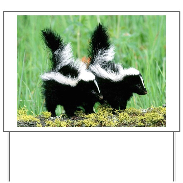Two Skunks Yard Sign by doggietown