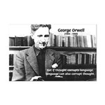 George Orwell: Language Thought Mini Poster Print