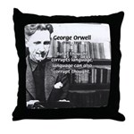 George Orwell: Language Thought Throw Pillow