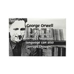 George Orwell: Language Thought Rectangle Magnet