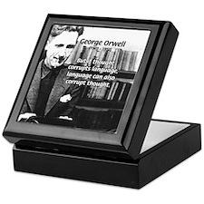 George Orwell: Language Thought Keepsake Box