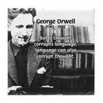 George Orwell: Language Thought Tile Coaster
